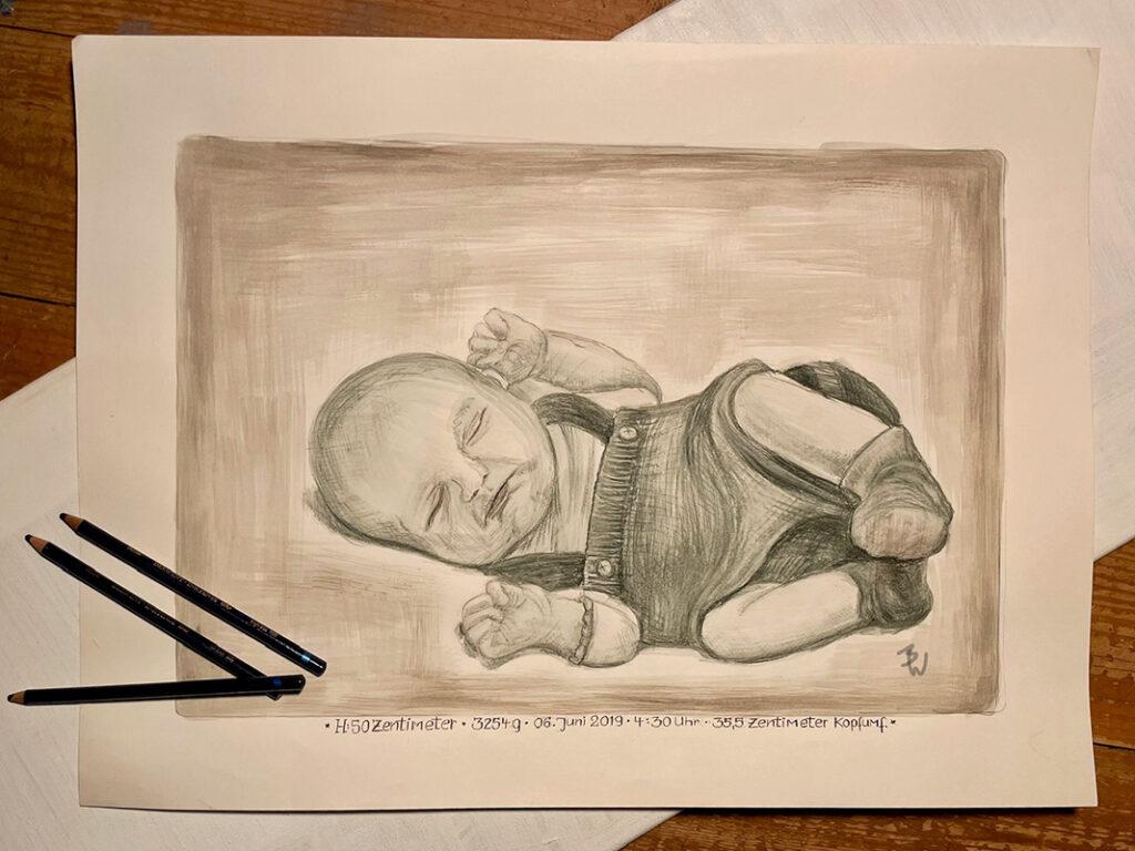 Zeichnung Baby